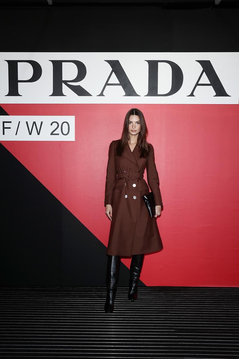 Celebrity Style Milan Fashion Week FW20 Emily Ratajkowski Prada