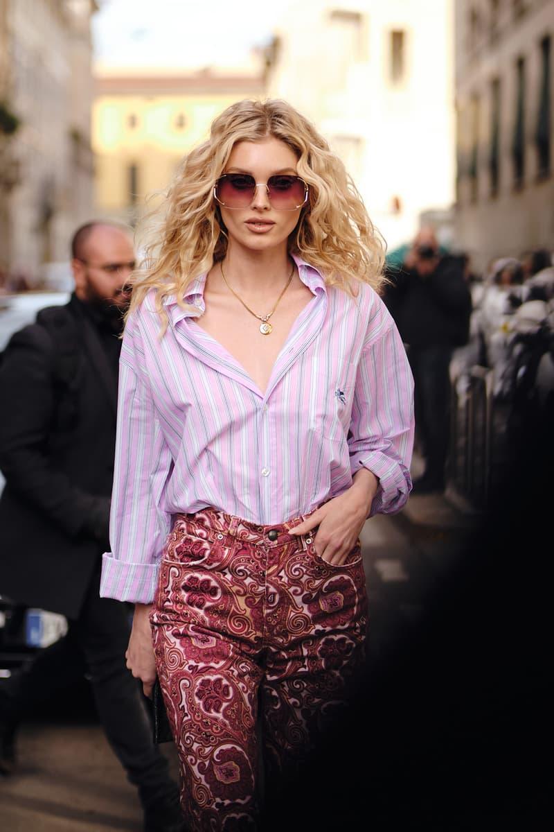 Celebrity Style Milan Fashion Week FW20 Elsa Hosk