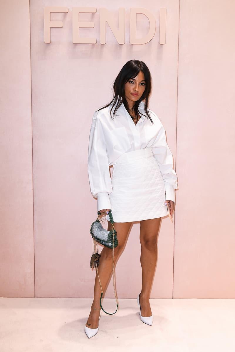 Celebrity Style Milan Fashion Week FW20 Amina Muaddi Fendi