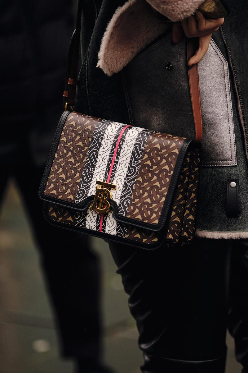 Burberry TB Bag London Fashion Week Fall Winter 2020 Street Style Accessory