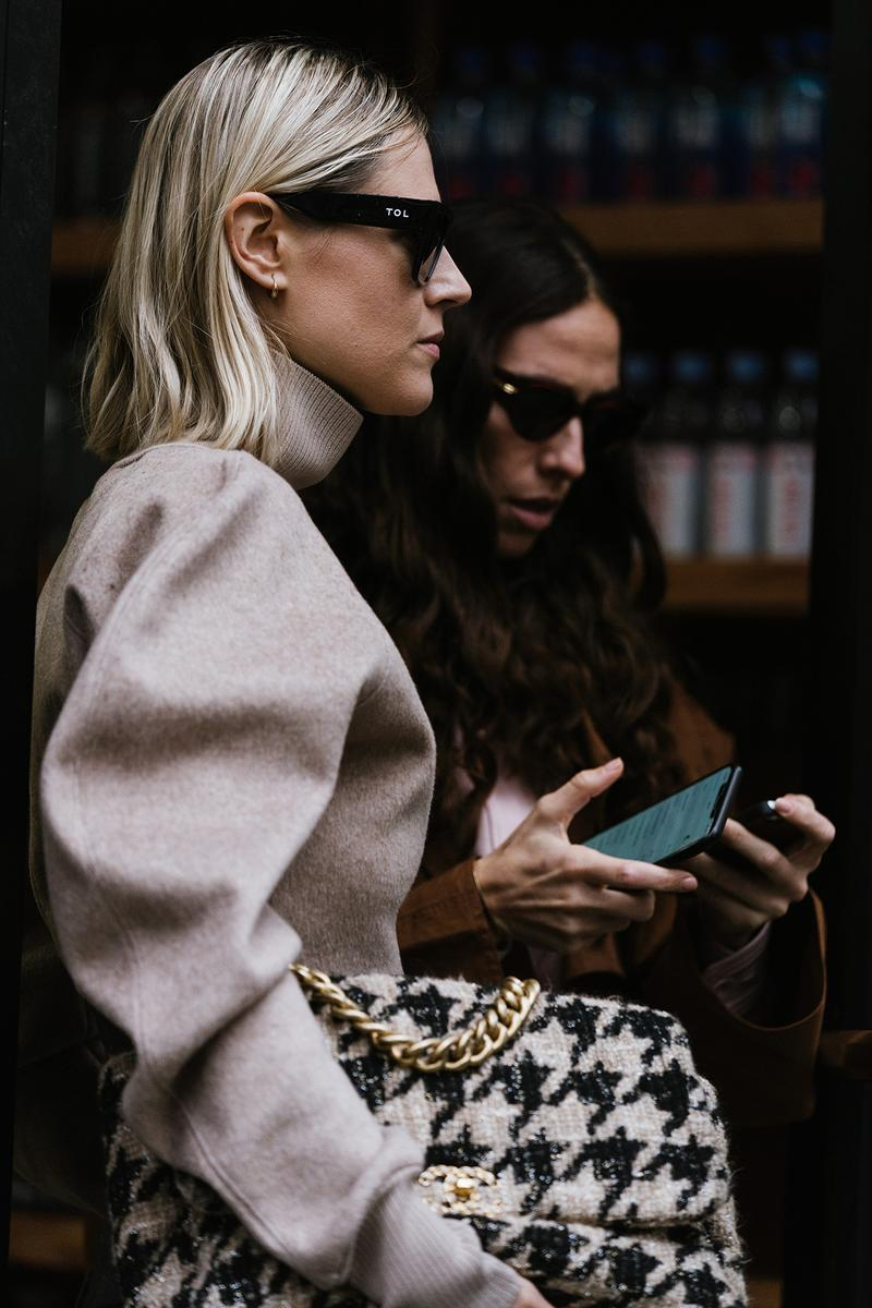 New York Fashion Week FW20 NYFW Fall Winter 2020 Street Style Influencers Sunglasses Chanel Tweed Bag