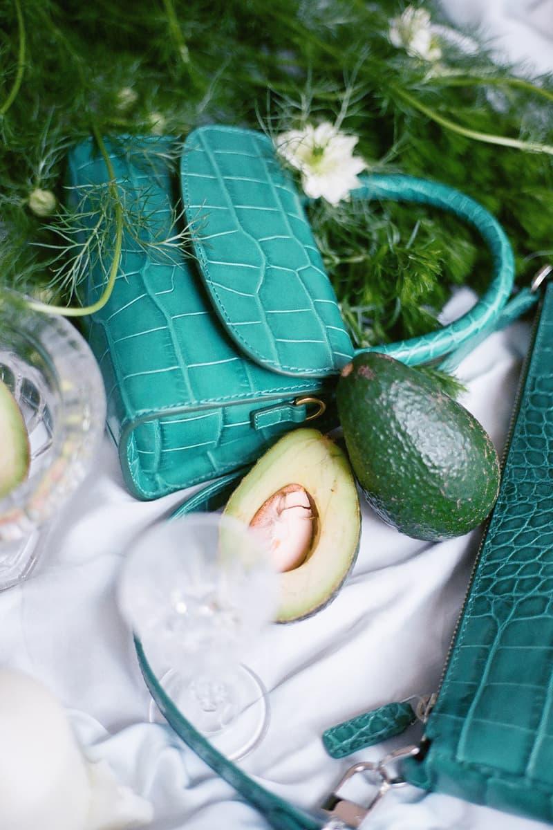 by far hbxwm collaboration rachel mini bags hot pink emerald green handbags