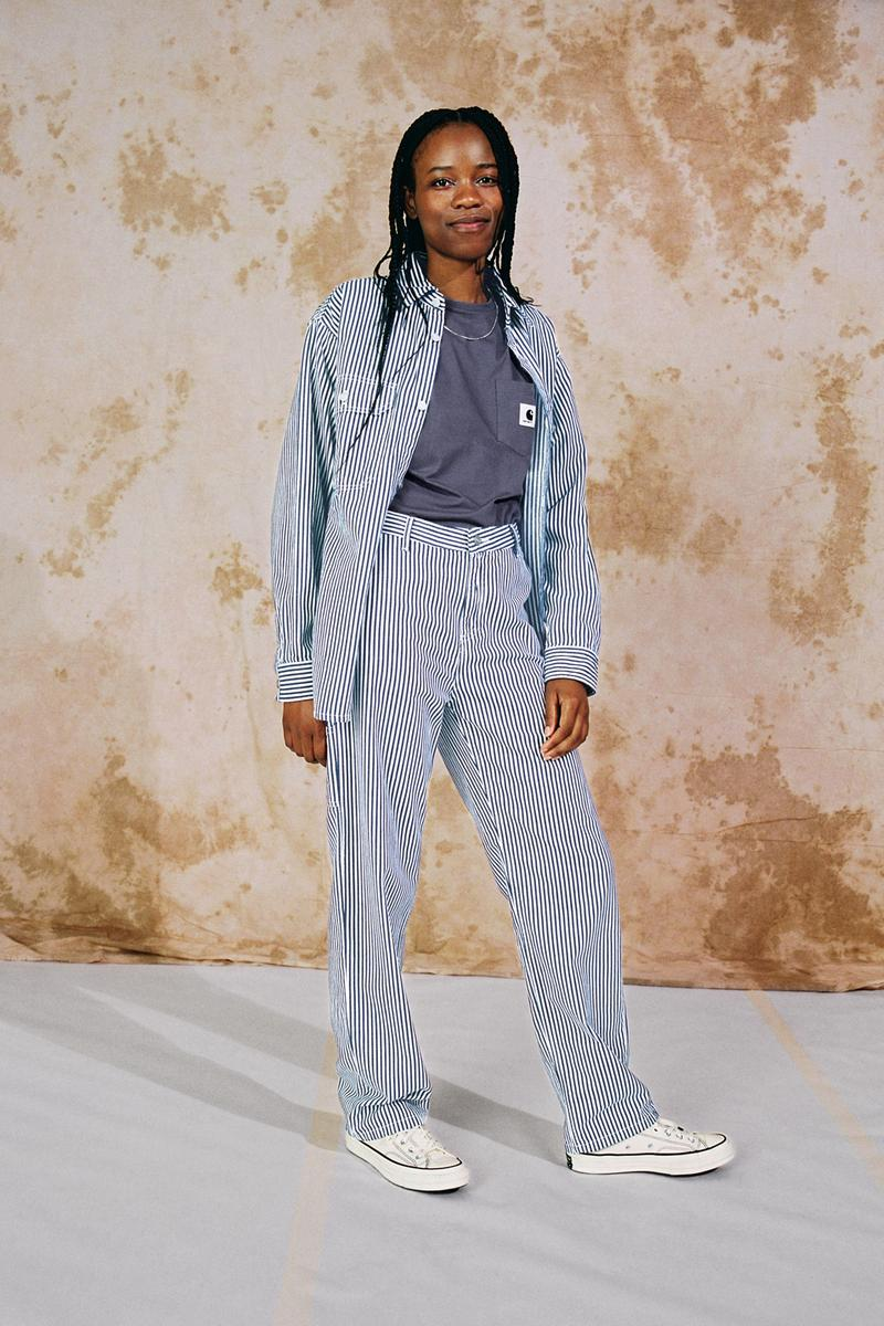 Carhartt WIP Spring/Summer 2020 Collection Lookbook Great Master Shirt Pierce Pant Straight Blue/White Rinsed