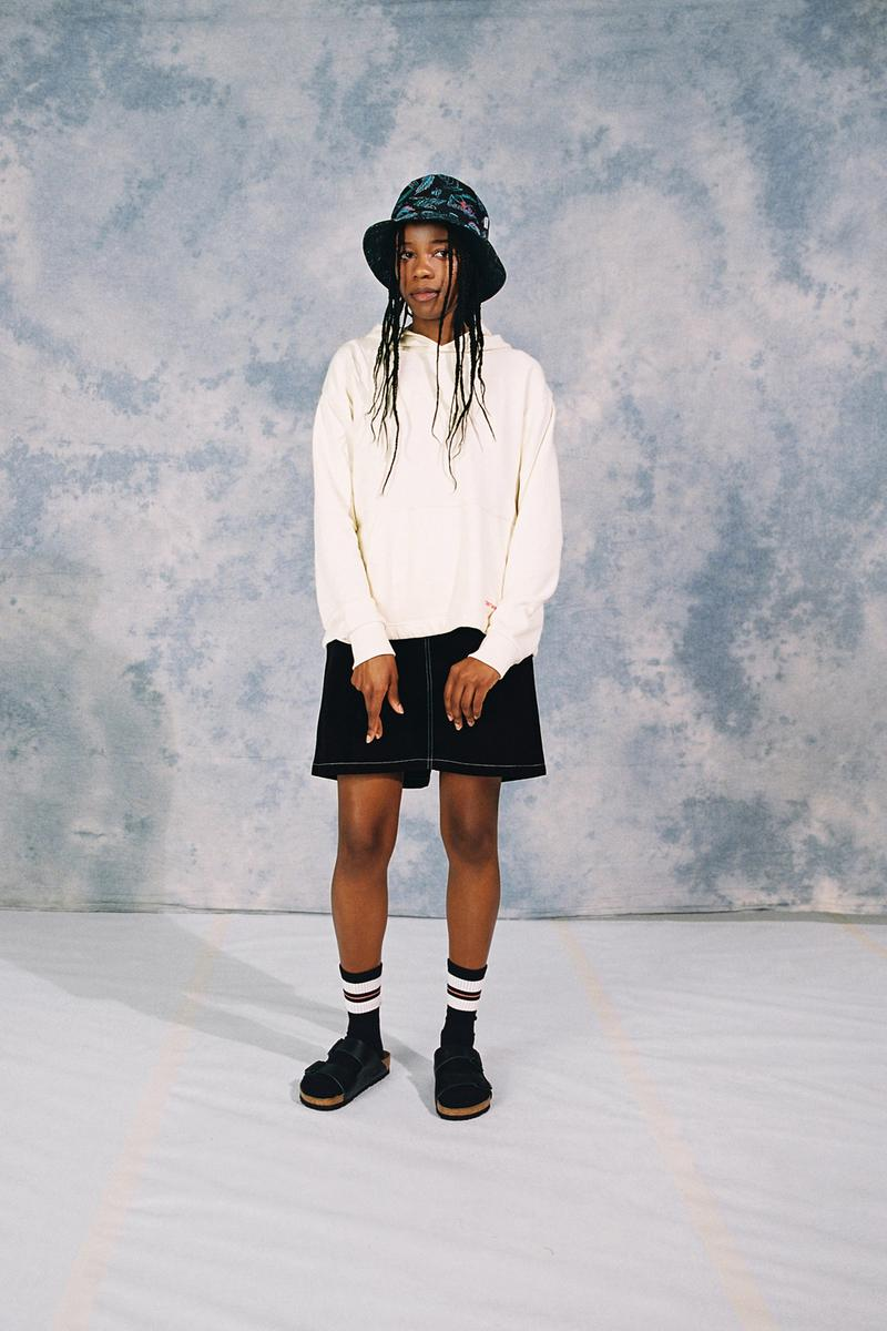 Carhartt WIP Spring/Summer 2020 Collection Hooded Neo Sweatshirt Natural Armanda Skirt Paradise Bucket Hat Black