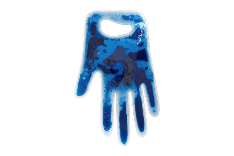 christopher kane blue liquid hand tote designer bags