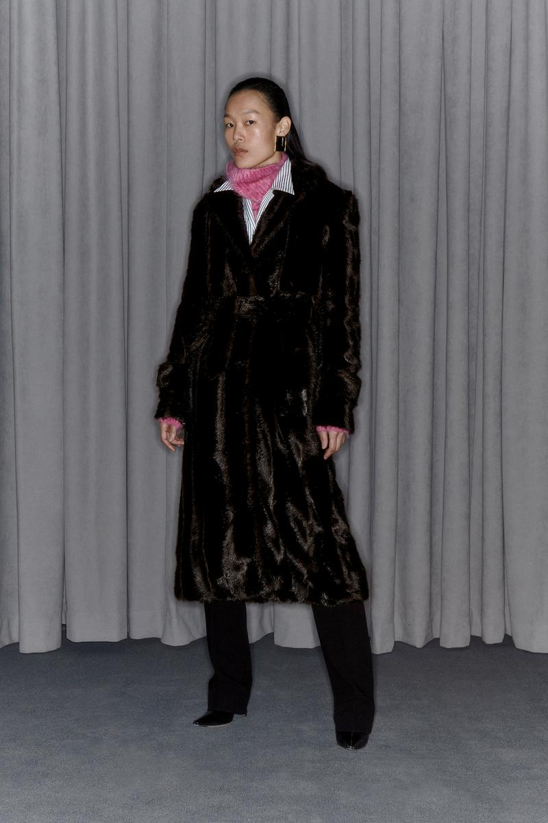 Commission Fall/Winter 2020 Collection Lookbook Faux Fur Coat