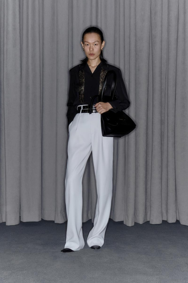 Commission Fall/Winter 2020 Collection Lookbook Lace Button Down Trousers White