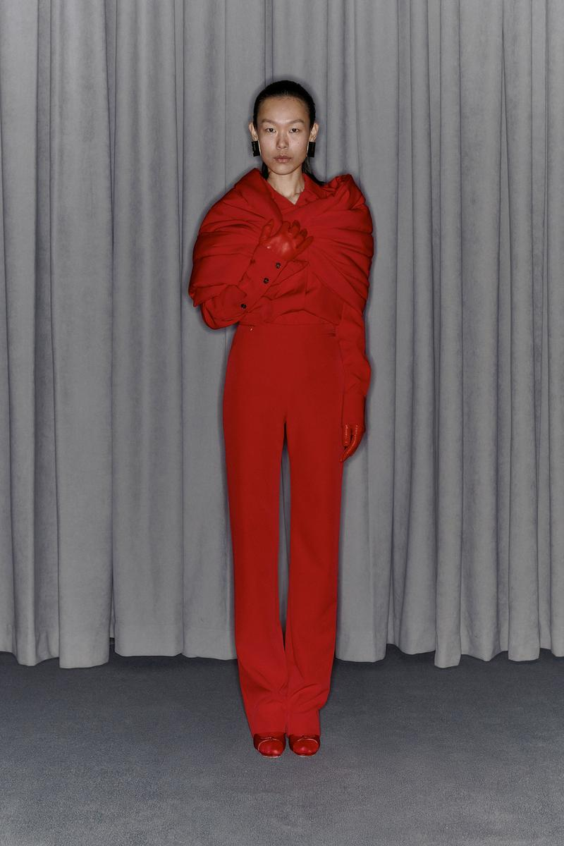 Commission Fall/Winter 2020 Collection Lookbook Pants Top Red