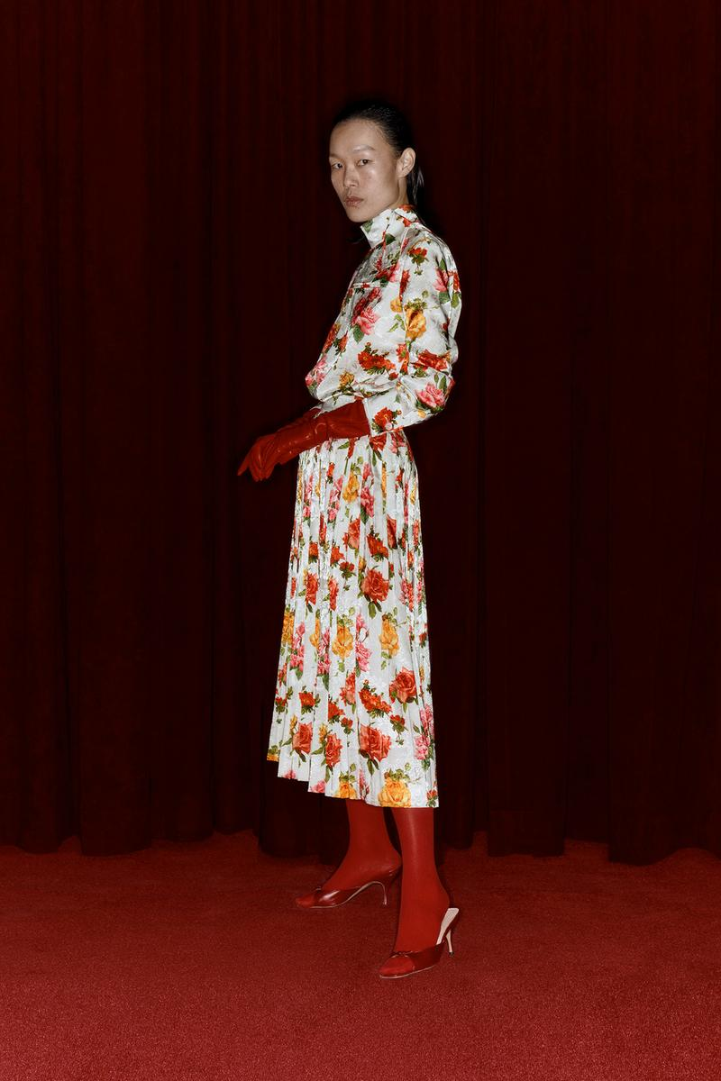 Commission Fall/Winter 2020 Collection Lookbook Floral Dress