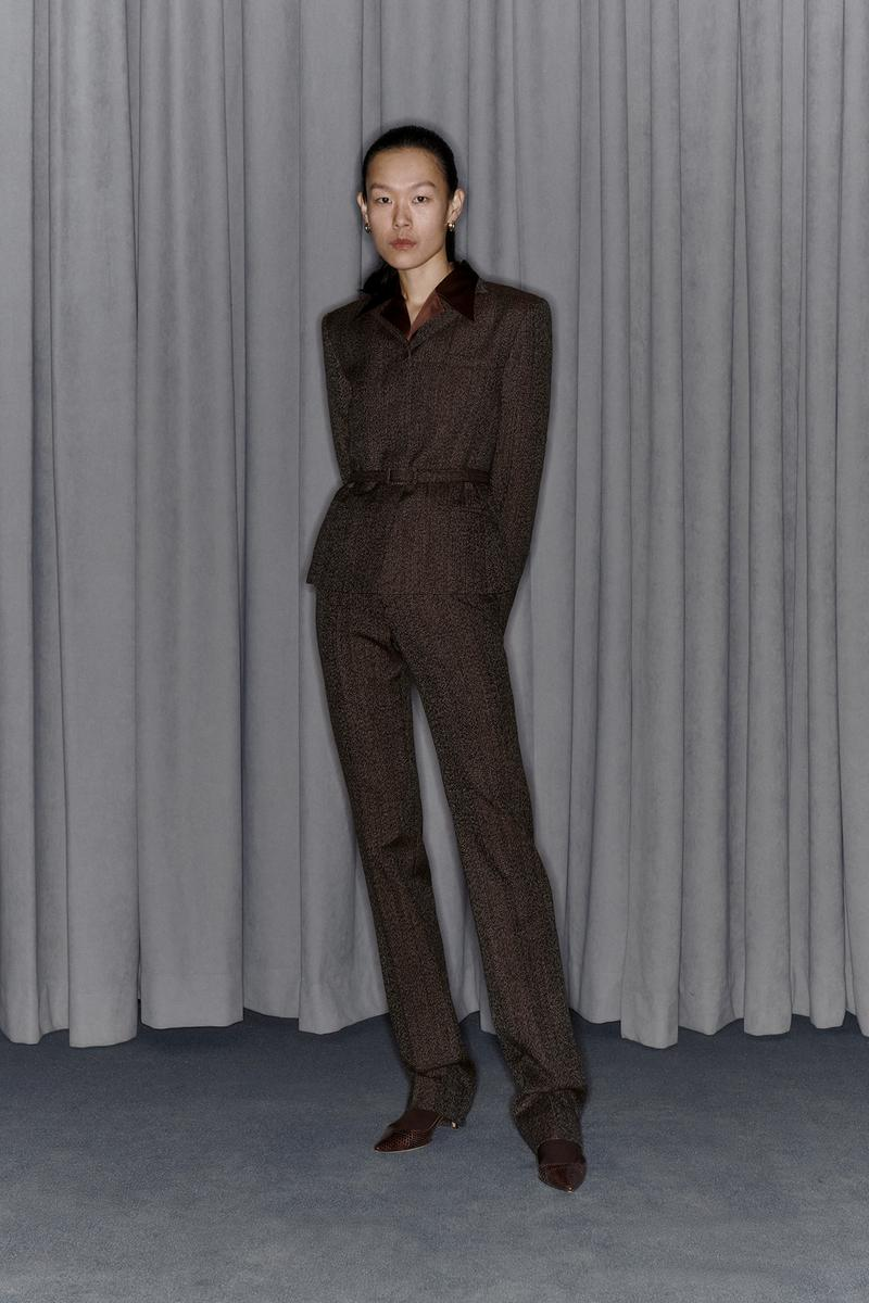 Commission Fall/Winter 2020 Collection Lookbook Tweed Suit Brown