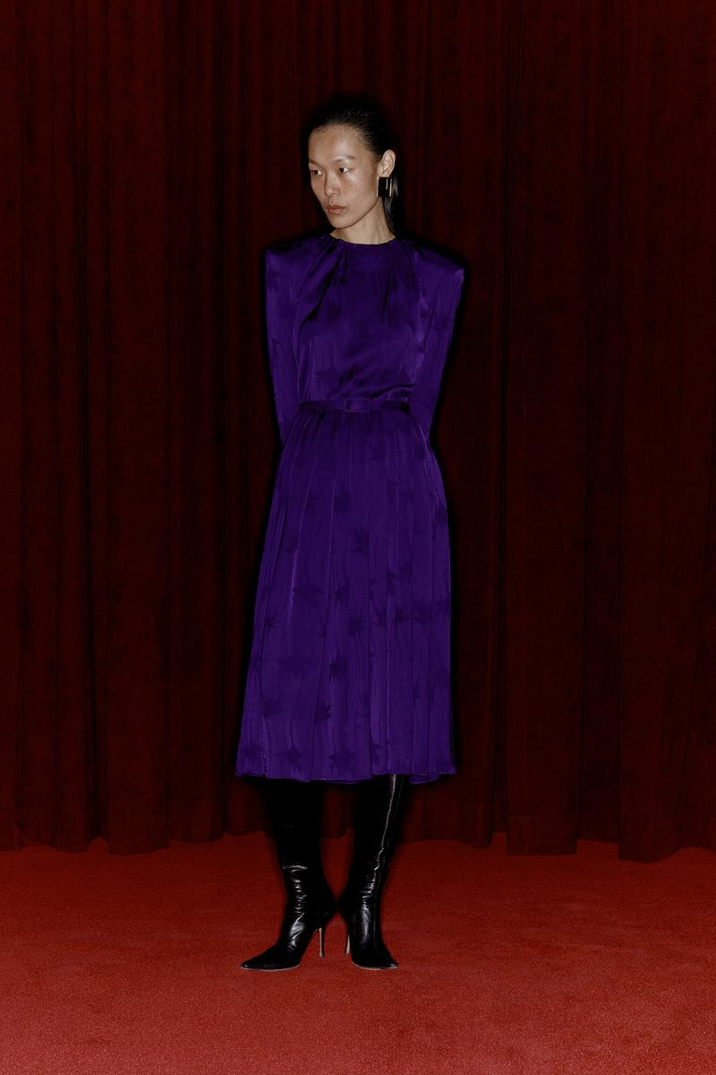 Commission Fall/Winter 2020 Collection Lookbook Purple Dress