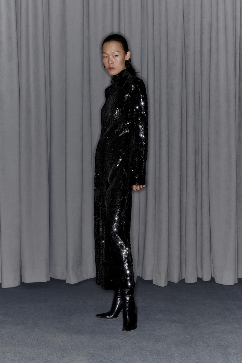 Commission Fall/Winter 2020 Collection Lookbook Sequin Dress Black