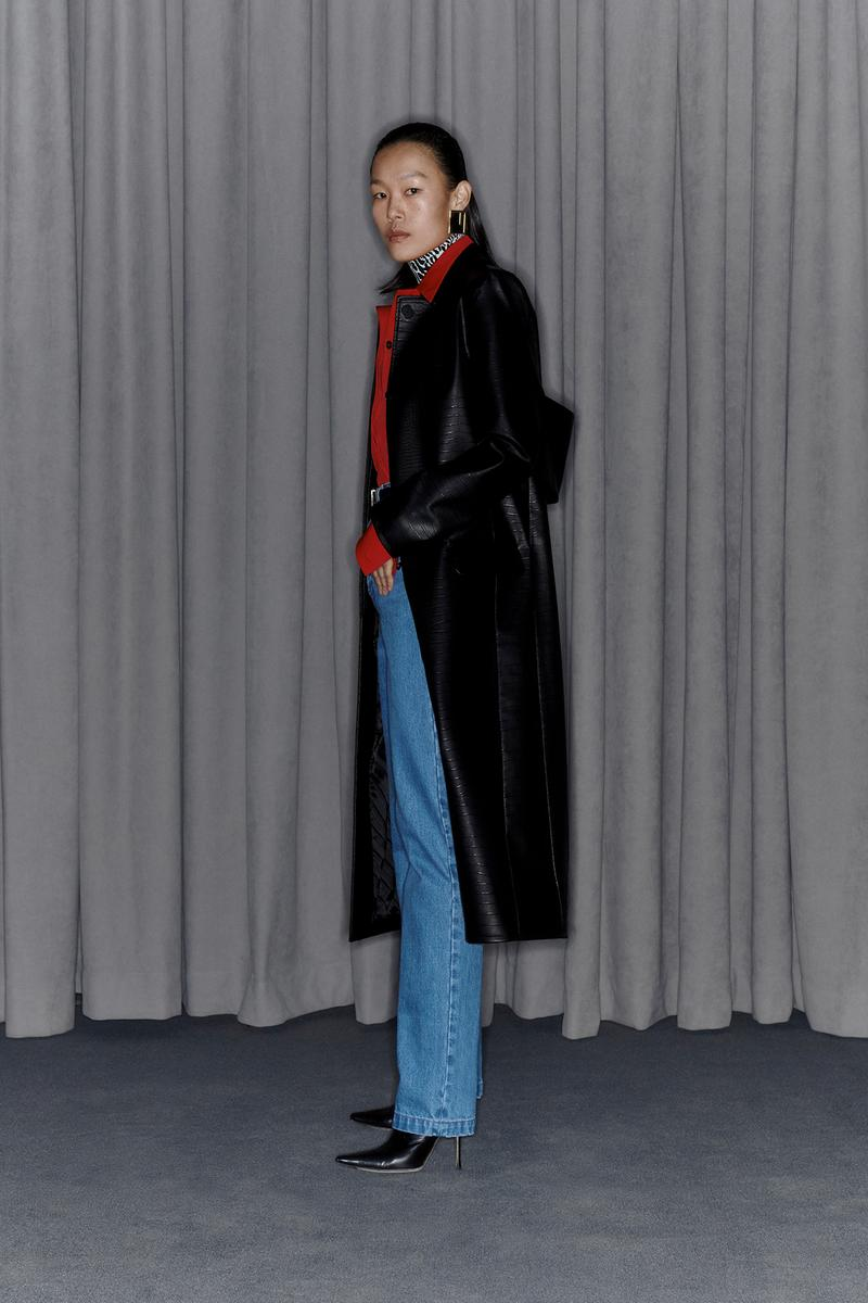 Commission Fall/Winter 2020 Collection Lookbook Jeans Leather Coat
