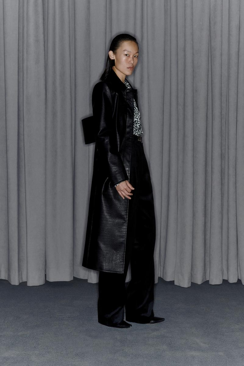 Commission Fall/Winter 2020 Collection Lookbook Leather Coat Black