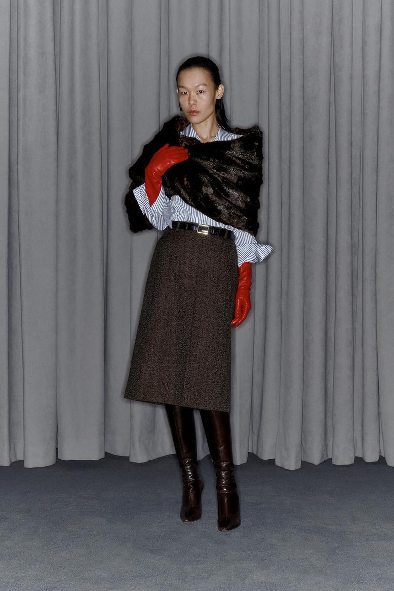 Commission Fall/Winter 2020 Collection Lookbook Wool Skirt Brown
