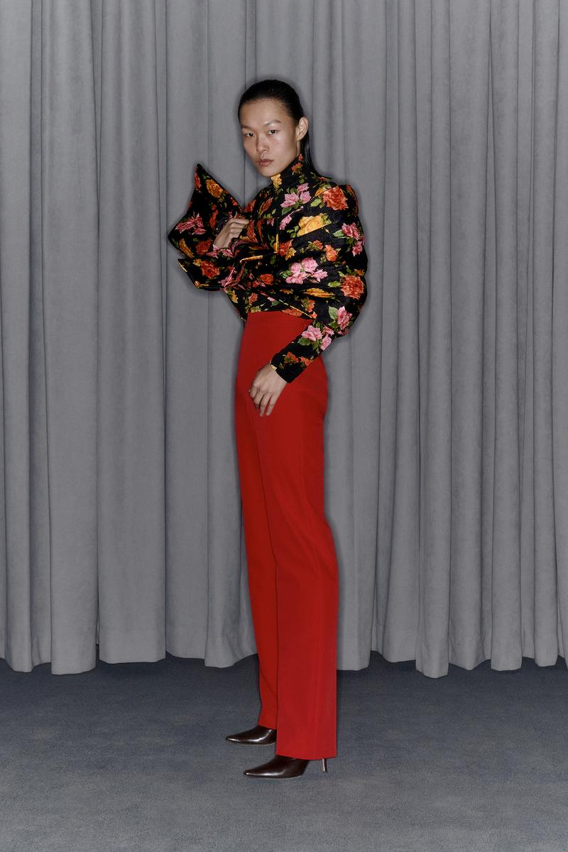Commission Fall/Winter 2020 Collection Lookbook Floral Top Pants Red