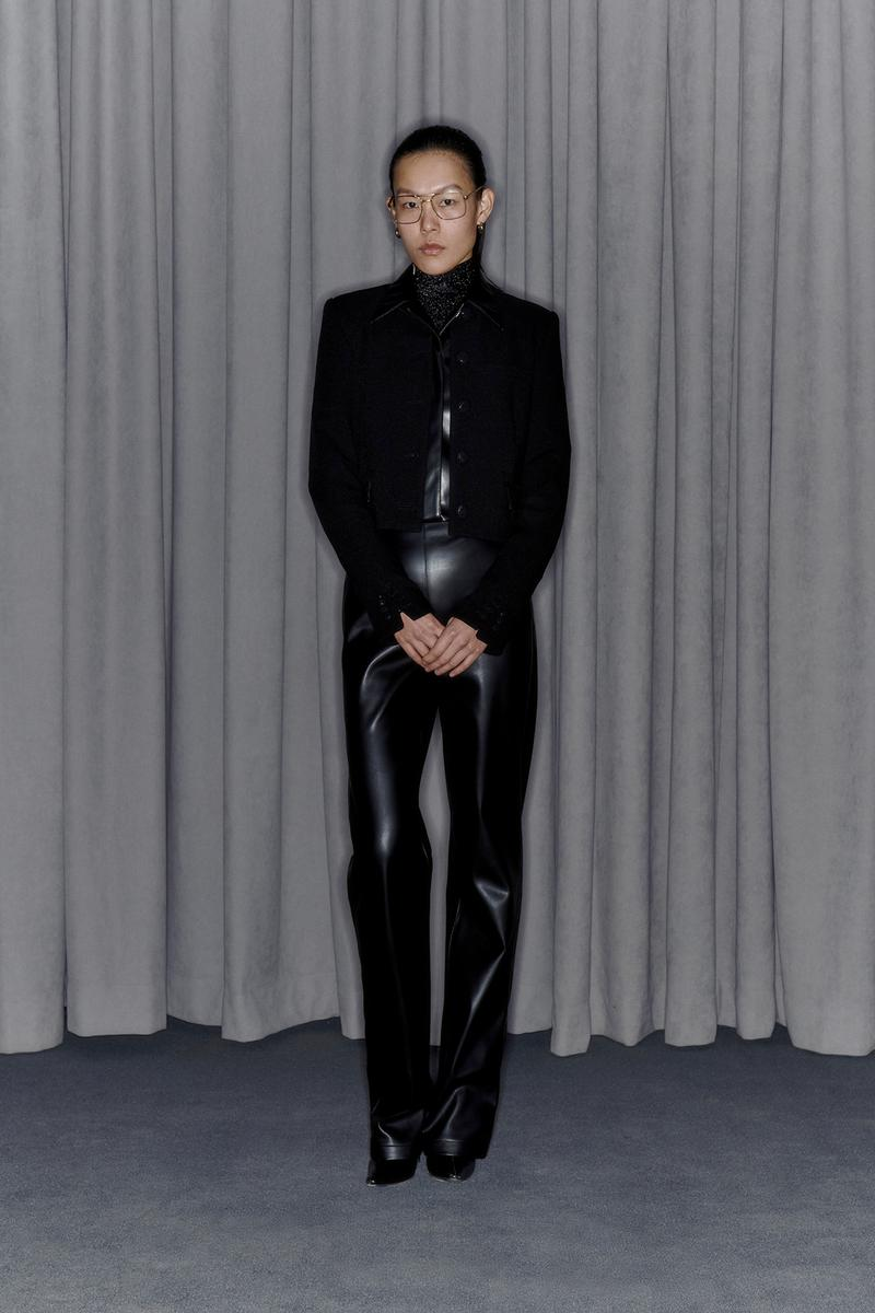 Commission Fall/Winter 2020 Collection Lookbook Leather Pants Black