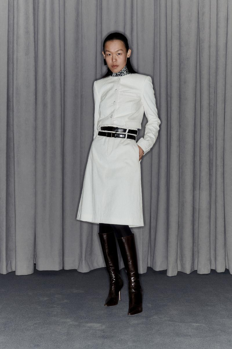 Commission Fall/Winter 2020 Collection Lookbook Dress White