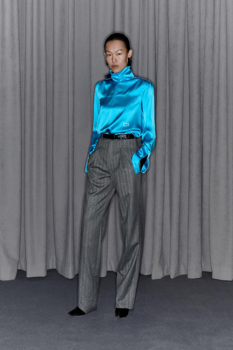 Commission Fall/Winter 2020 Collection Lookbook Silk Top Blue