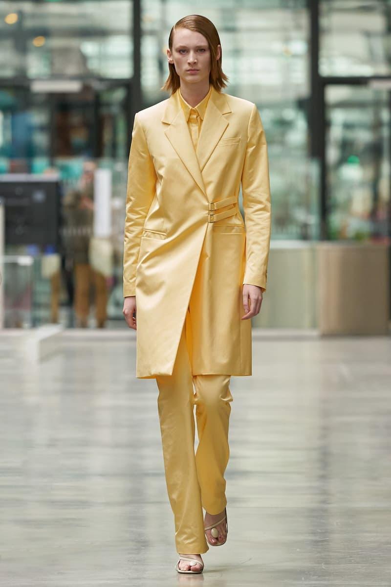 coperni sebastien meyer arnaud vaillant paris fashion week fall winter collection pastel yellow coat pants