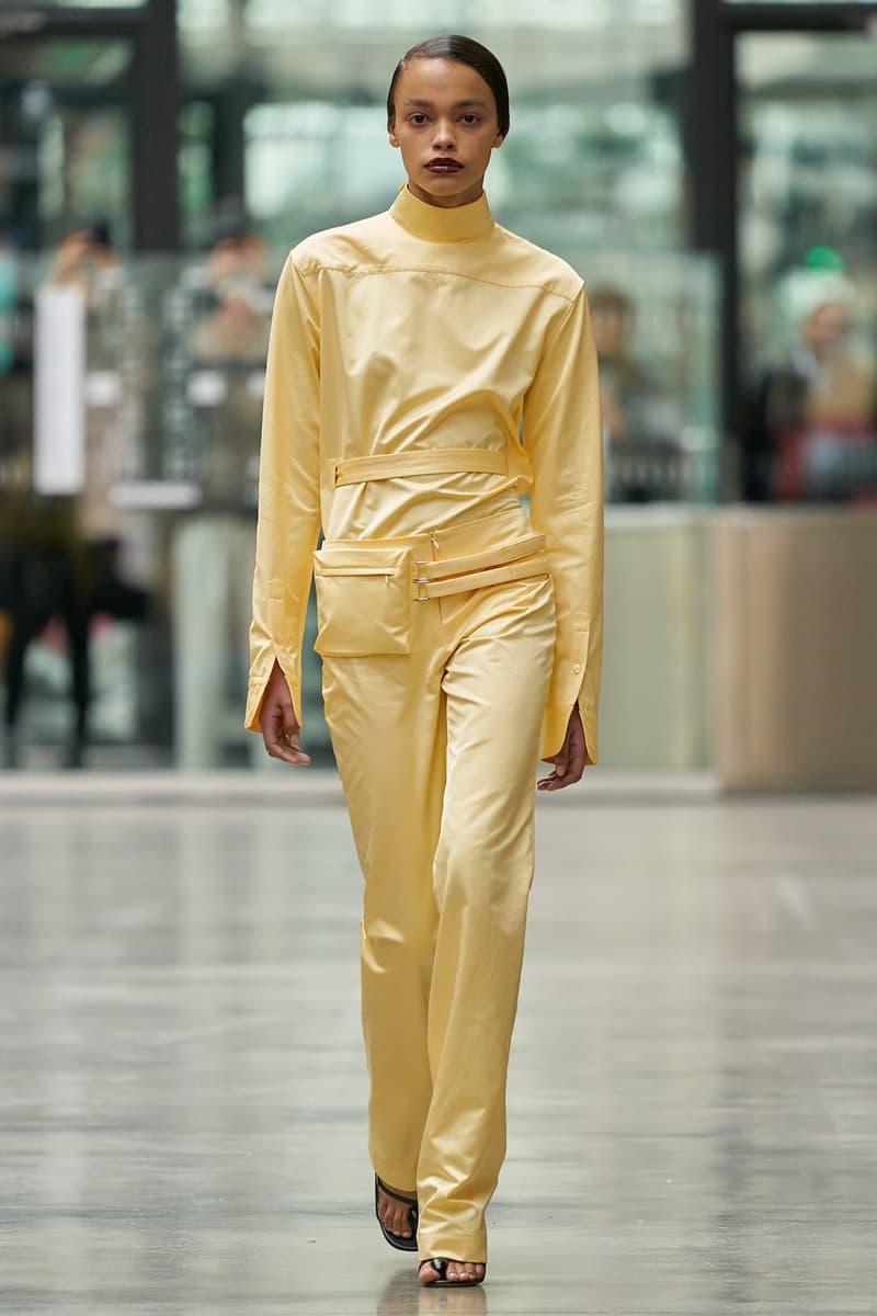 coperni sebastien meyer arnaud vaillant paris fashion week fall winter collection pastel yellow long sleeve top pants