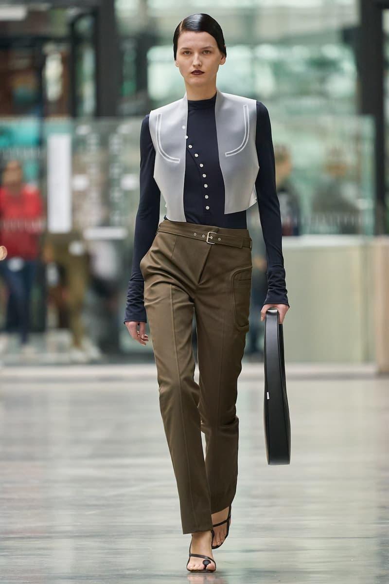 coperni sebastien meyer arnaud vaillant paris fashion week fall winter collection brown pants long sleeve top bag