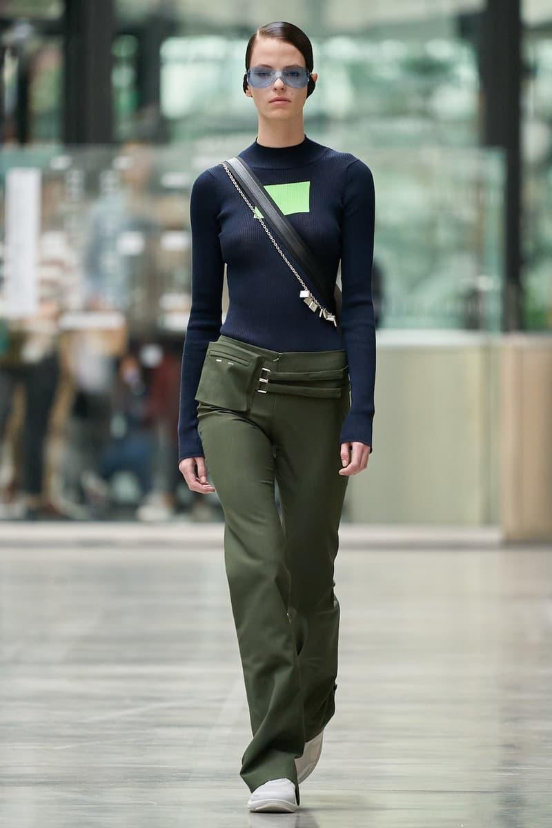 coperni sebastien meyer arnaud vaillant paris fashion week fall winter collection navy blue long sleeve top olive green pants