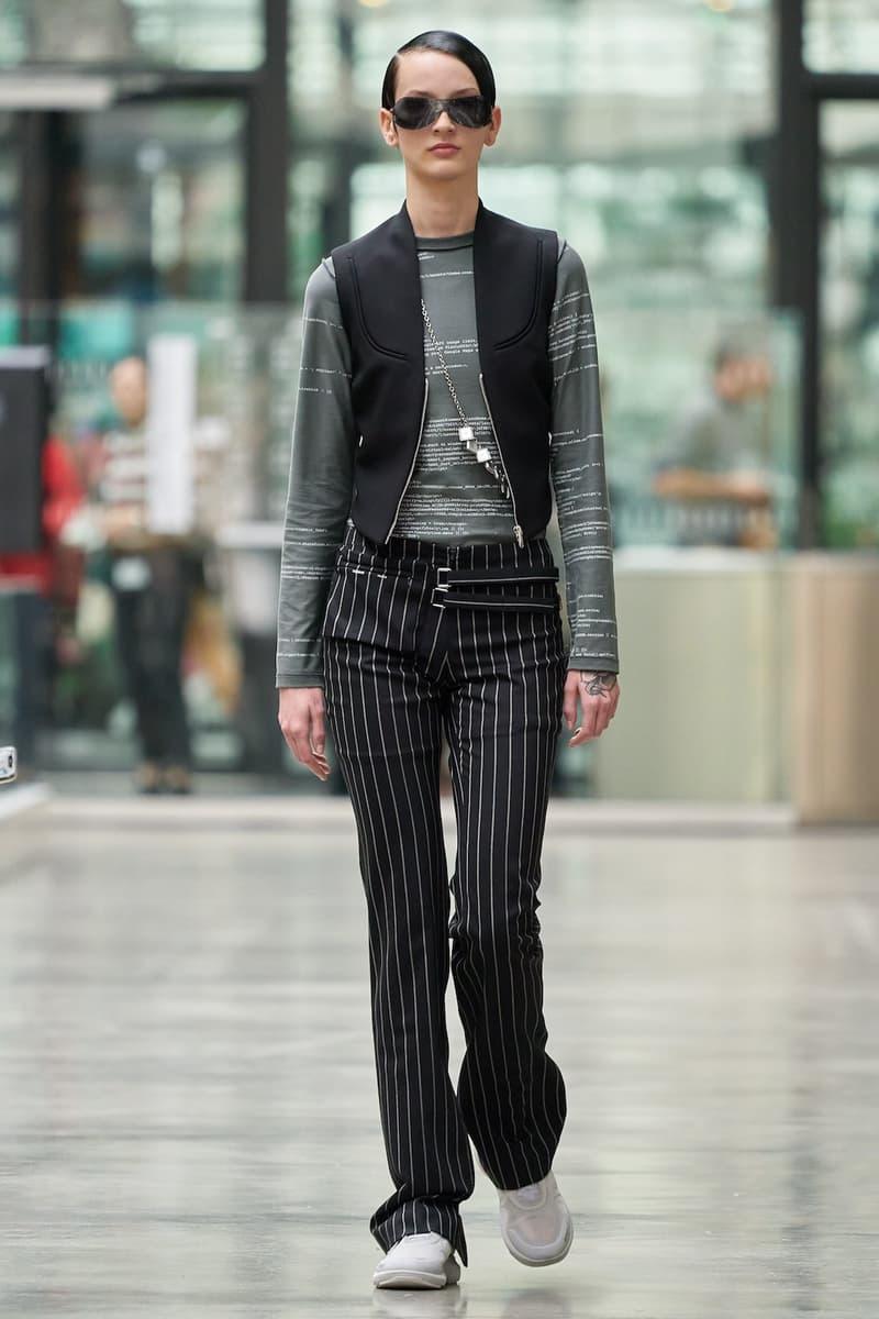 coperni sebastien meyer arnaud vaillant paris fashion week fall winter collection striped pants grey top