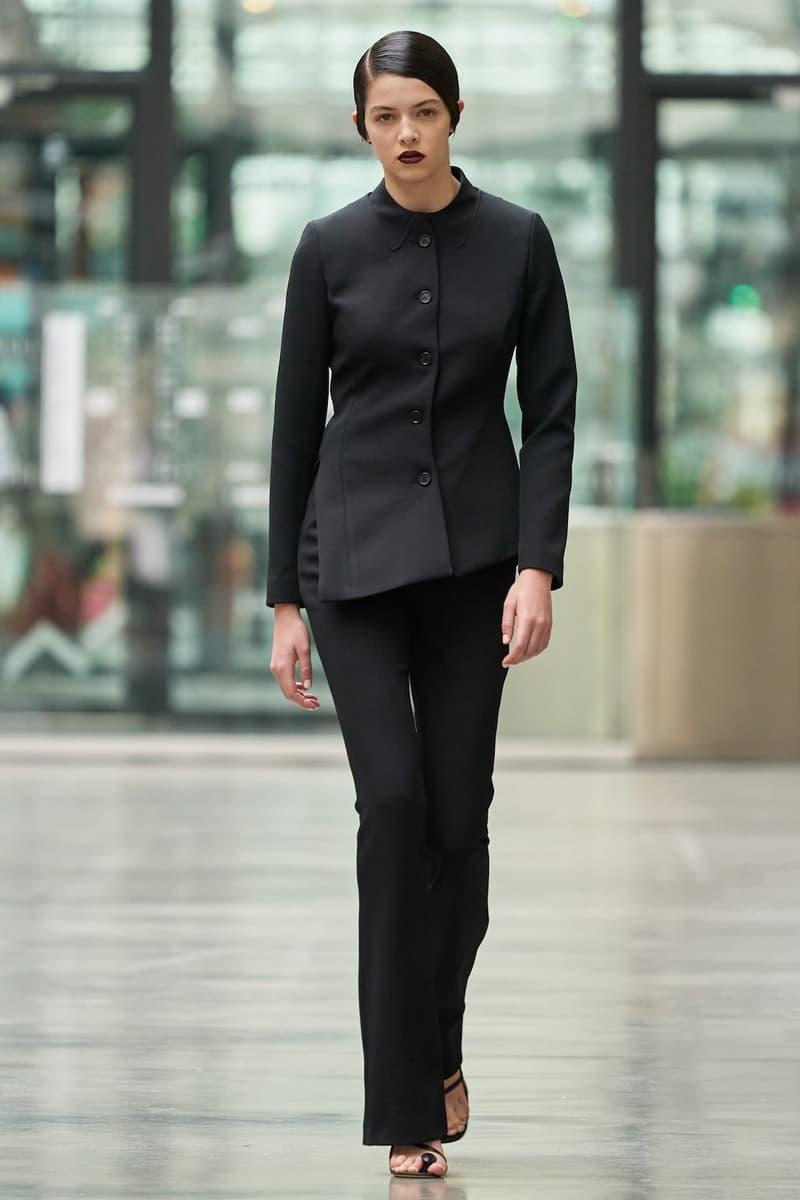 coperni sebastien meyer arnaud vaillant paris fashion week fall winter collectionblack suit jacket pants