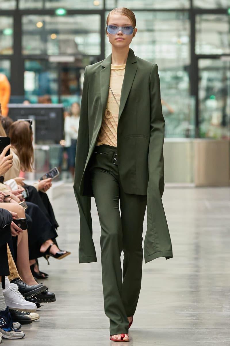 coperni sebastien meyer arnaud vaillant paris fashion week fall winter collection olive green jacket pants