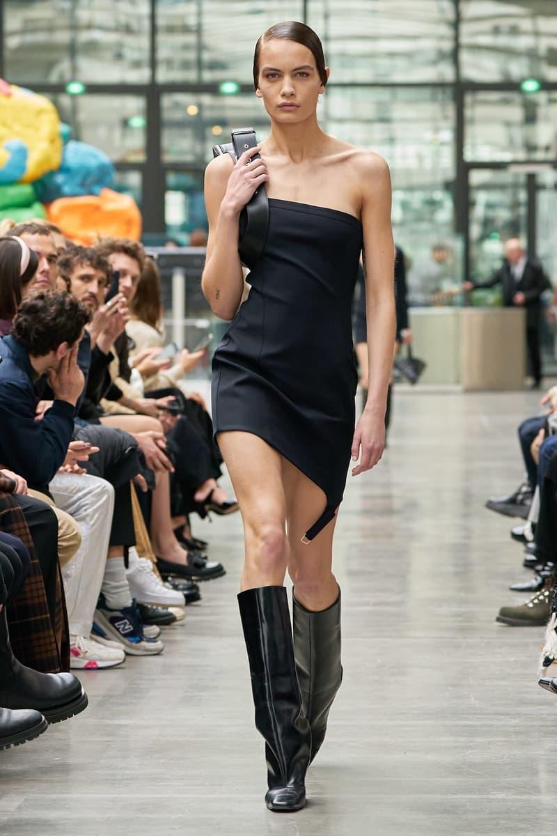 coperni sebastien meyer arnaud vaillant paris fashion week fall winter collection strapless black dress boots