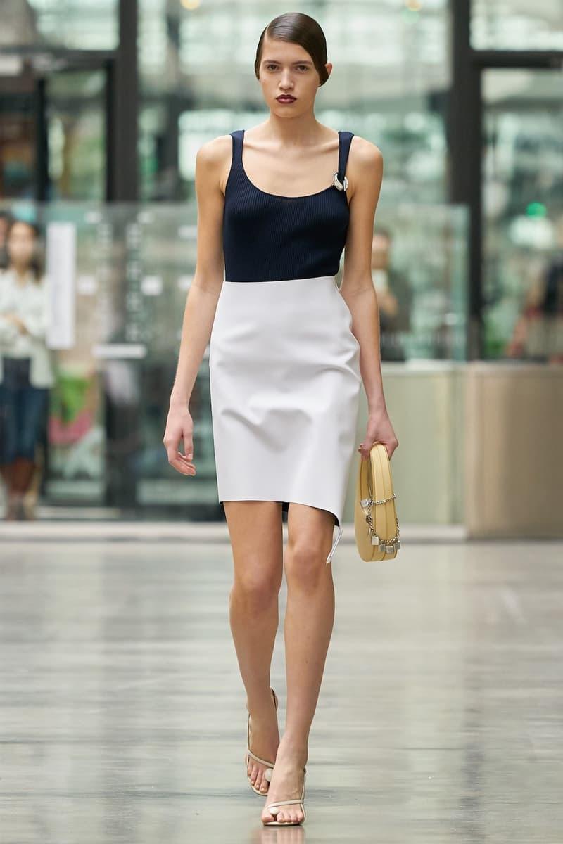 coperni sebastien meyer arnaud vaillant paris fashion week fall winter collection black top white pencil skirt yellow bag