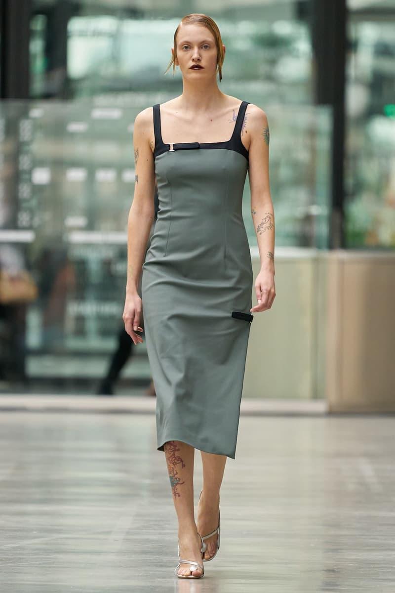 coperni sebastien meyer arnaud vaillant paris fashion week fall winter collection olive green dress