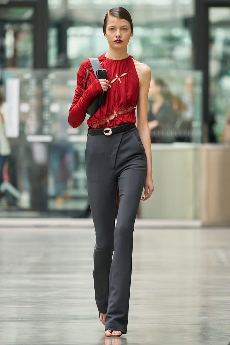 coperni sebastien meyer arnaud vaillant paris fashion week fall winter collection red top grey pants