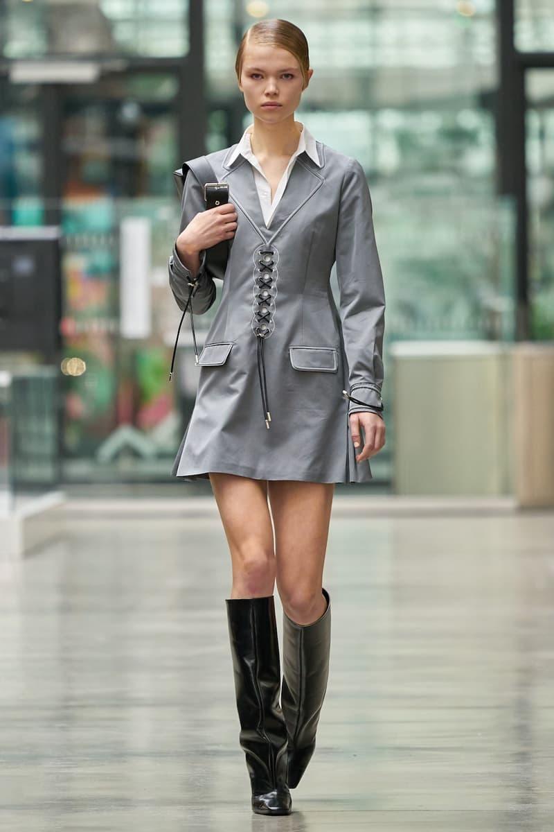 coperni sebastien meyer arnaud vaillant paris fashion week fall winter collection grey silver dress black boots