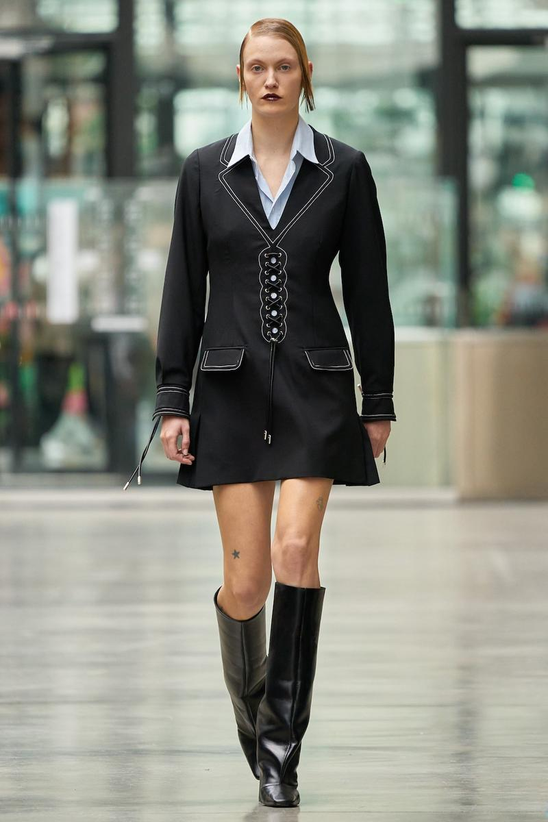 coperni sebastien meyer arnaud vaillant paris fashion week fall winter collection black dress boots