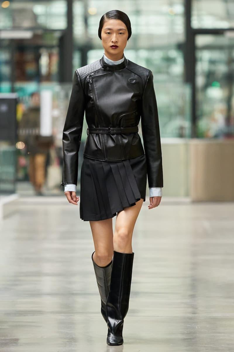 coperni sebastien meyer arnaud vaillant paris fashion week fall winter collection leather jacket black skirt boots