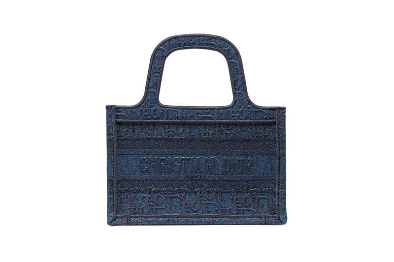 Dior Mini Book Tote Denim Blue