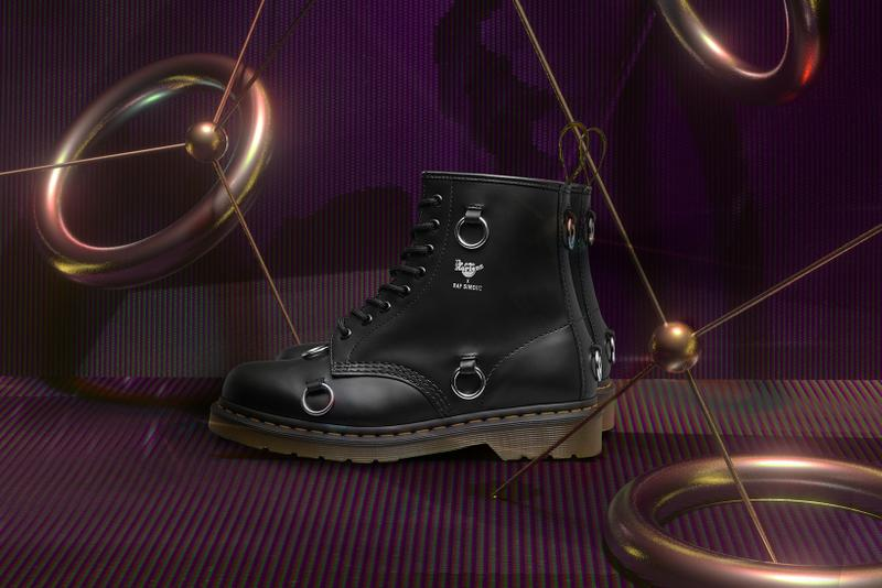 dr martens raf simons collaboration the 1460 boot black leather shoes