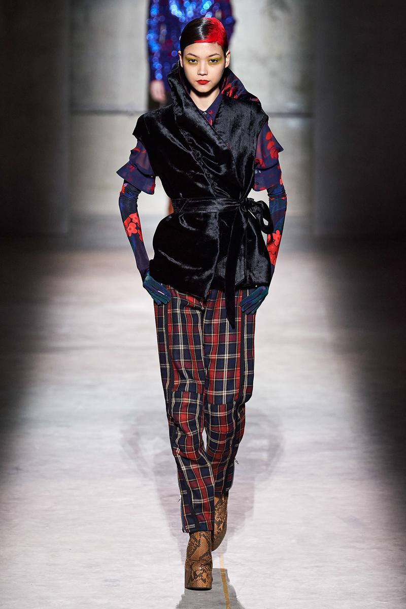 Dries Van Noten Fall/Winter 2020 Collection Runway Show Plaid Pants