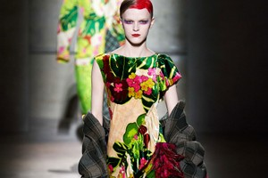 Picture of Florals and Feathers Reign Supreme at Dries Van Noten FW20