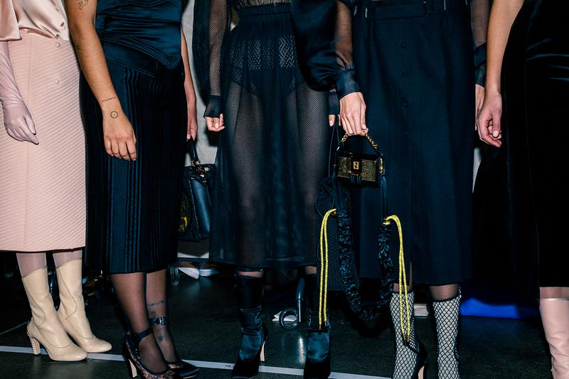 Fendi Fall Winter 2020 FW20 Silvia Venturini Milan Fashion Week Runway Show Backstage Models Boots Shoes Bags