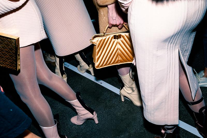 Fendi Fall Winter 2020 FW20 Silvia Venturini Milan Fashion Week Runway Show Backstage Bag Boots