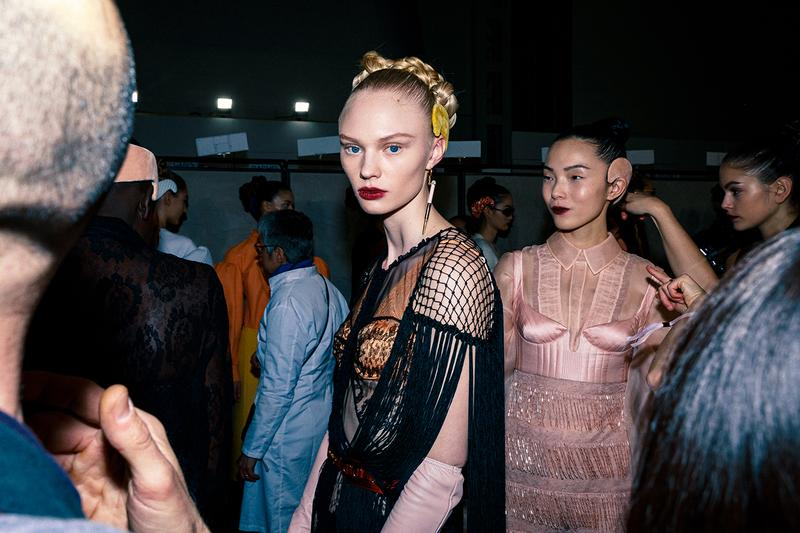 Fendi Fall Winter 2020 FW20 Silvia Venturini Milan Fashion Week Runway Show Backstage Models Hair Makeup
