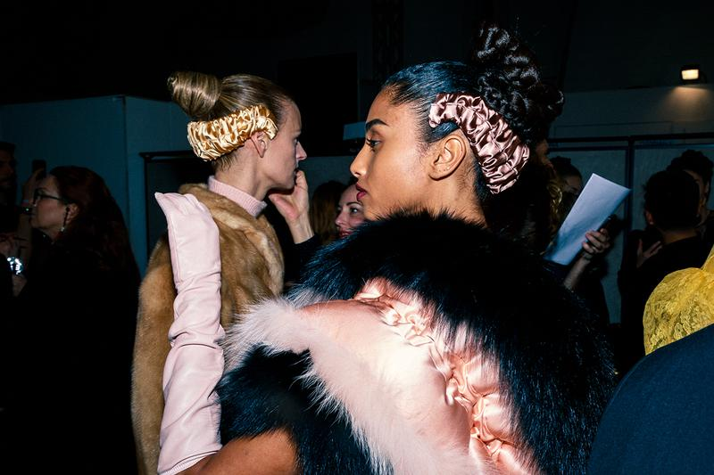 Fendi Fall Winter 2020 FW20 Silvia Venturini Milan Fashion Week Runway Show Backstage Models Imaan Hammam Headband