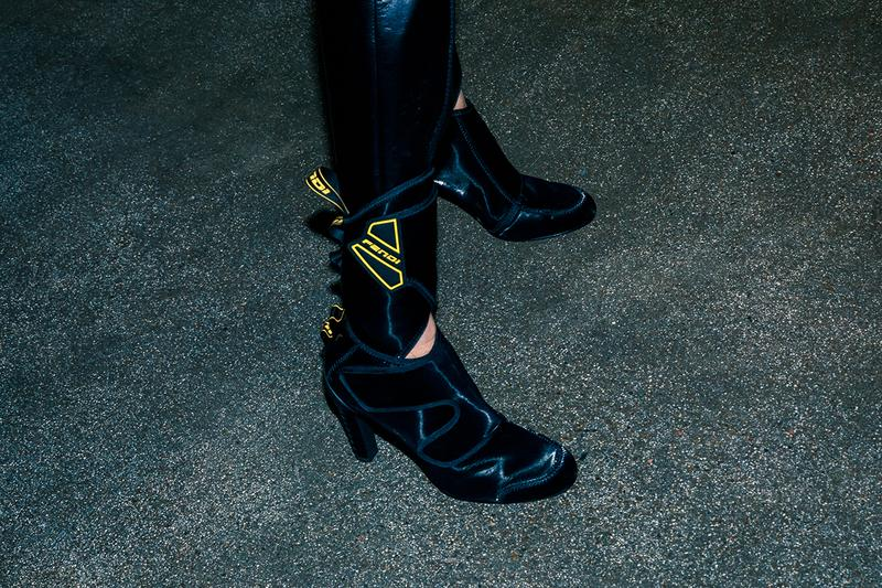 Fendi Fall Winter 2020 FW20 Silvia Venturini Milan Fashion Week Runway Show Backstage Shoes Boots