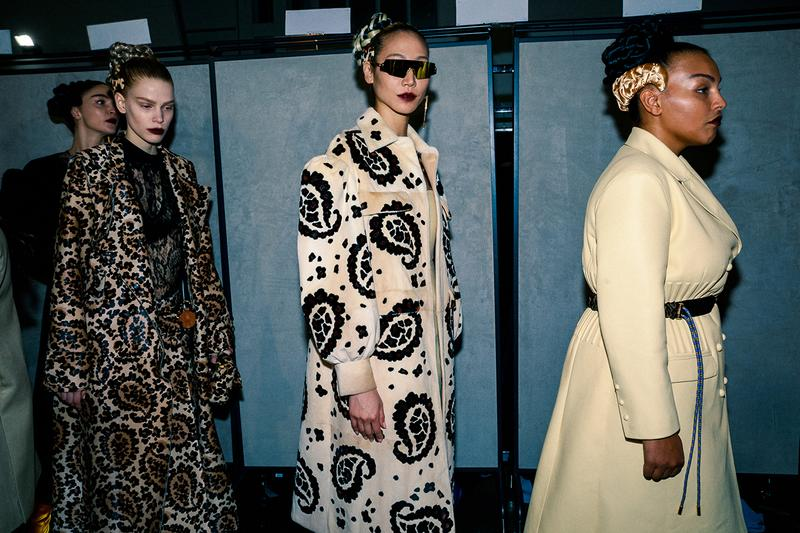 Fendi Fall Winter 2020 FW20 Silvia Venturini Milan Fashion Week Runway Show Backstage Models Paloma Elsesser Soo Joo Park Headband