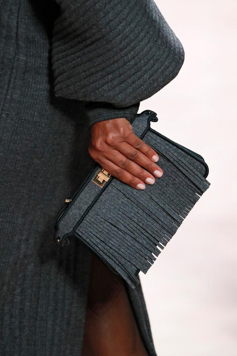 Fendi Fall/Winter 2020 Collection Bags Accessories Clutch Fringe Wool