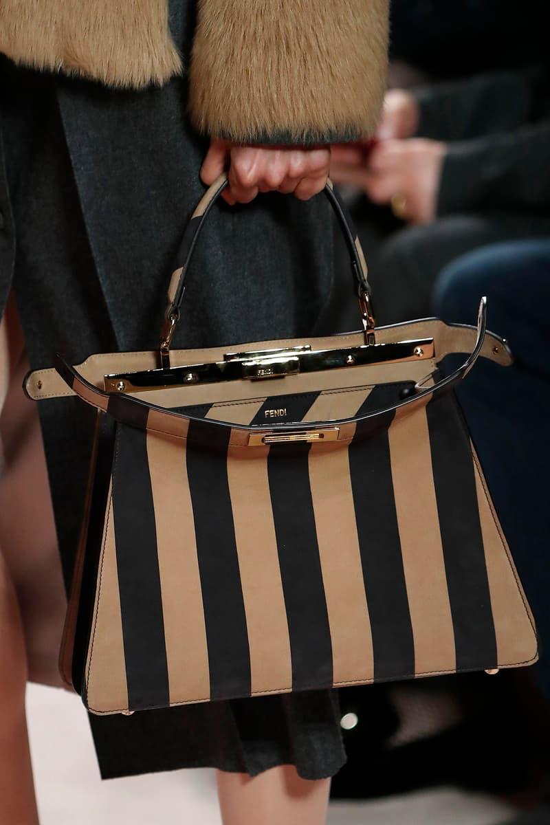 Fendi Fall/Winter 2020 Collection Bags Accessories Peekaboo Stripe