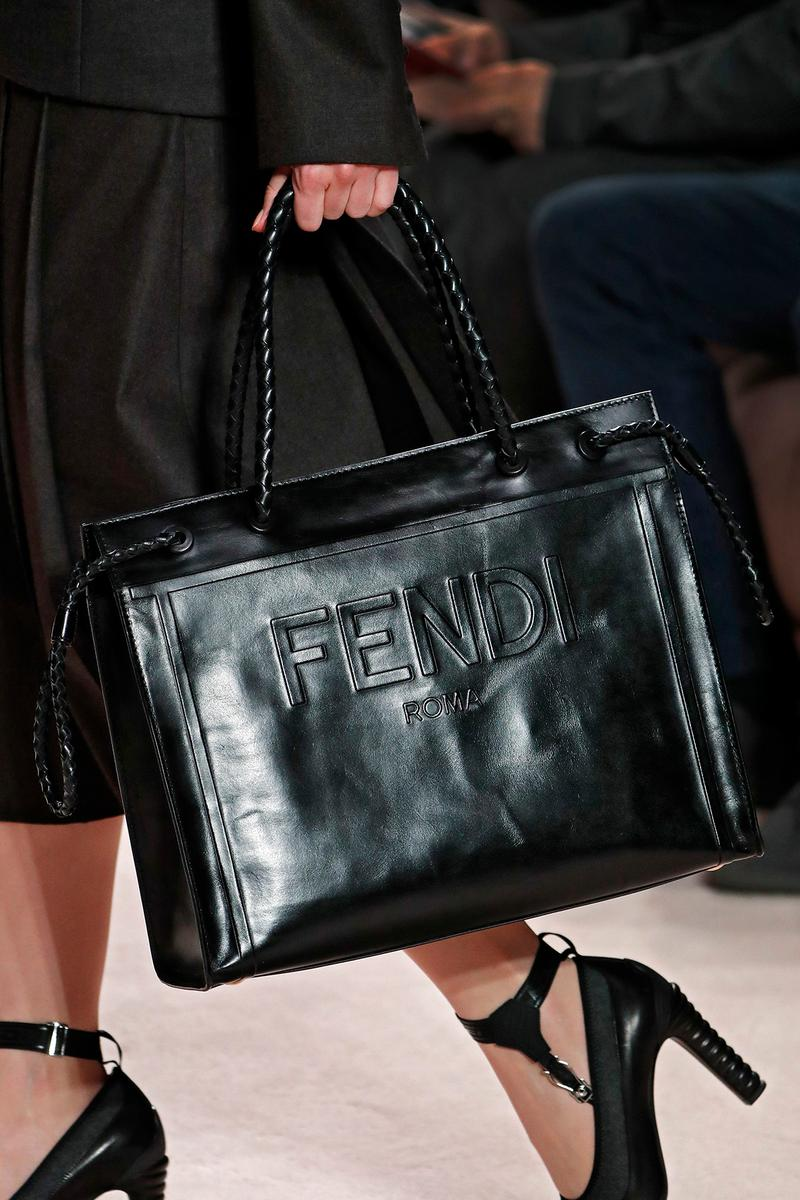 Fendi Fall/Winter 2020 Collection Bags Accessories Tote Leather Black